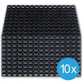 Caillebotis caoutchouc 40 x 60 cm (10 pièces)