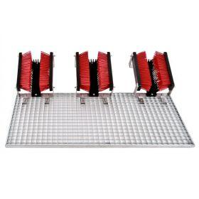 FloorMAX Exklusiv Plus professionele voetenveger / schoenborstel met rooster - Drievoudig