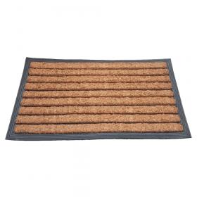 Deurmat rubber/kokos 40x70 cm - Streep